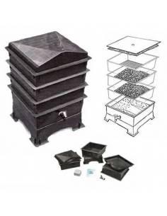 Vermicomposter, black, 3 shelves