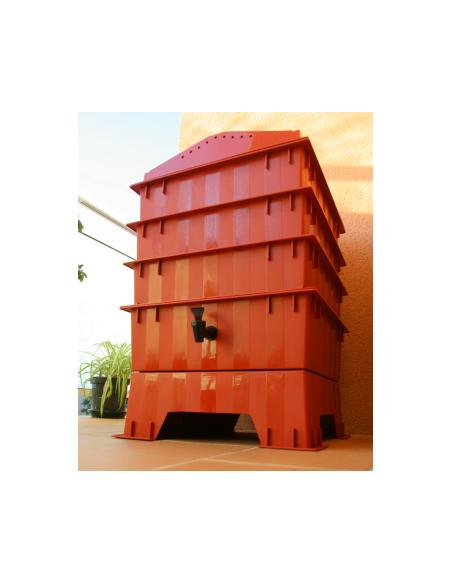 Vermicomposter, terracota, 3 shelves