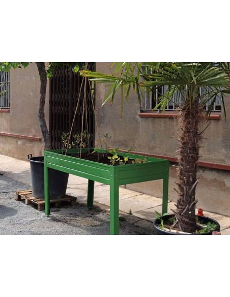 Mesa de cultivo verde + fibra de coco 70L de regalo