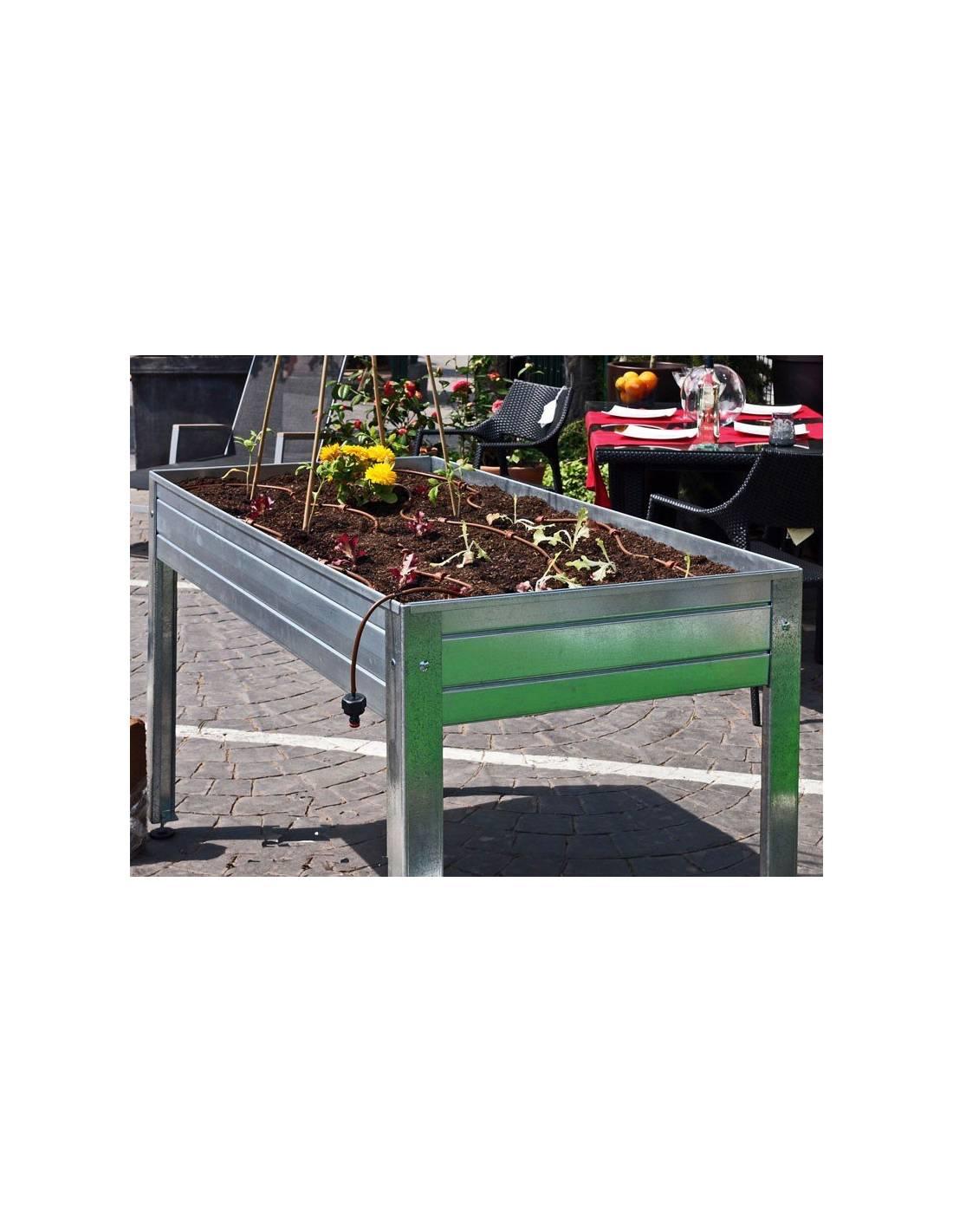 Kit de riego riego para mesa de cultivo huerto urbano - Drenaje mesa de cultivo ...