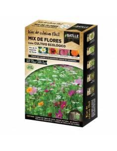 Mix organically grown flowers