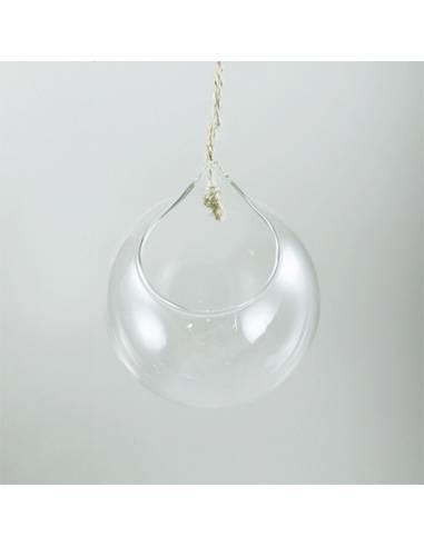 Colgante cristal apertura superior 10cm.