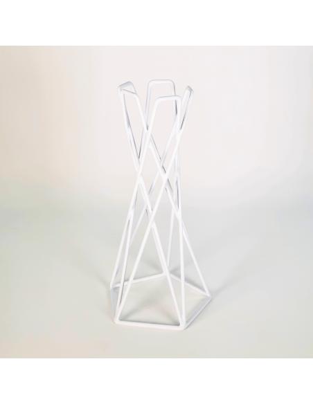 Soporte metal blanco reversible para Tillandsias Ecoterrazas