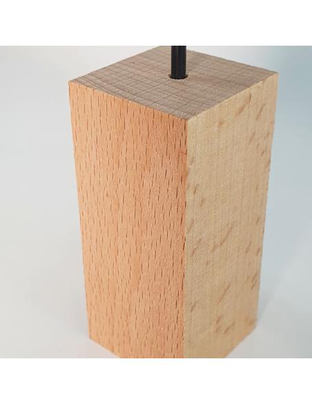 Soporte madera y metal para Tillandsias Ecoterrazas