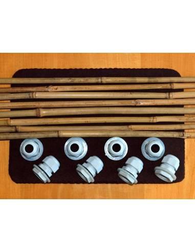 Kit cañas de bambú